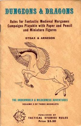 Le prime edizioni delle regole di Dungeons & Dragons (1974)